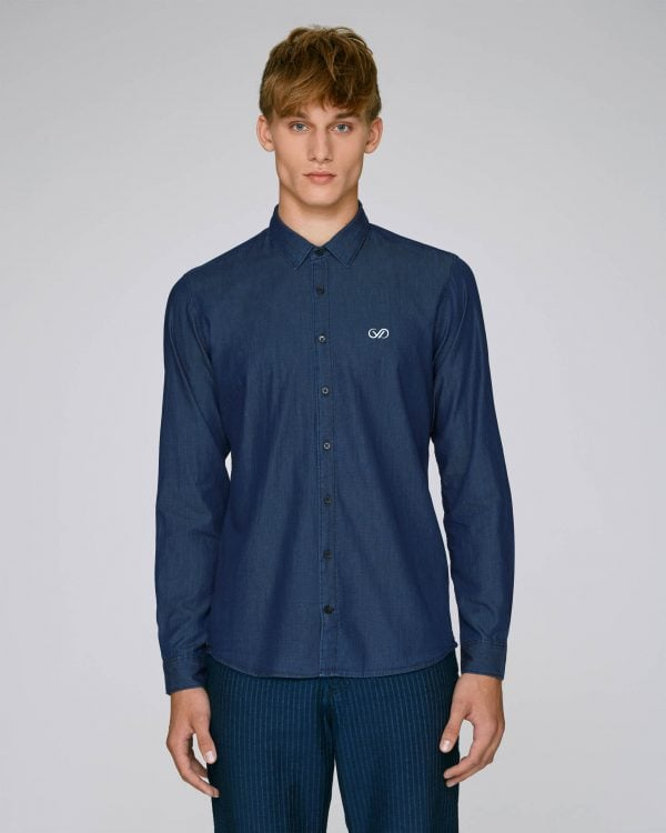 Val Sauvage denim shirt mockup front