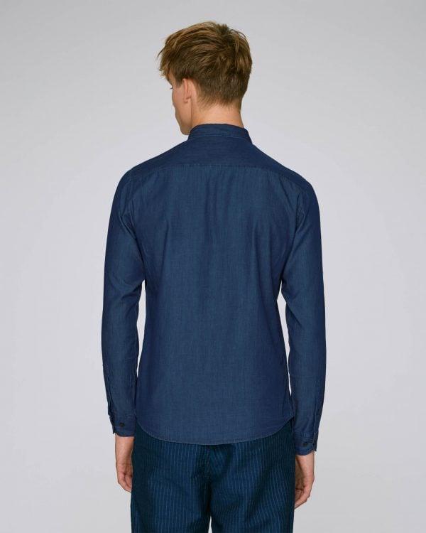 Val Sauvage denim shirt mockup back