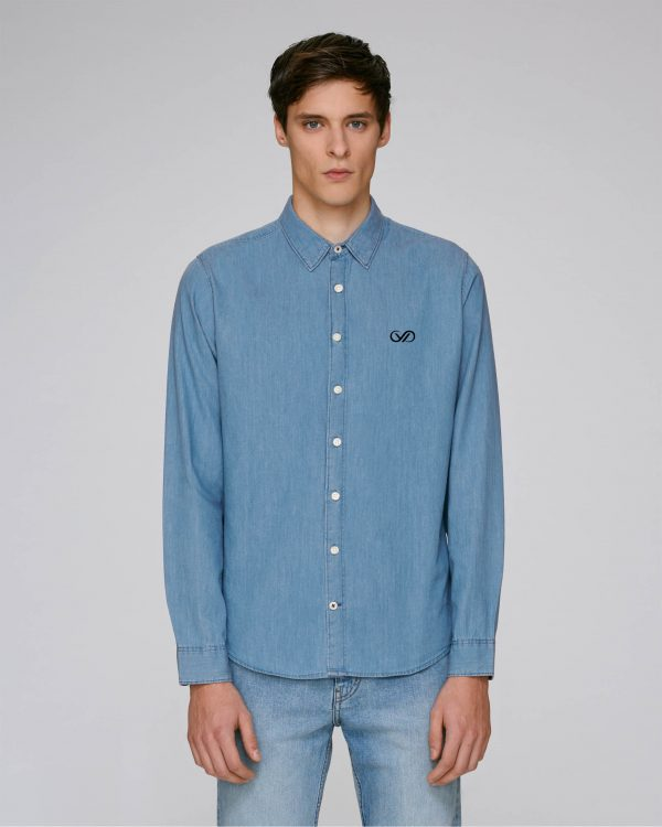 Val Sauvage denim shirt light mockup front